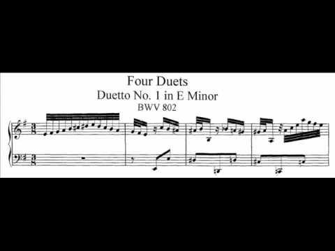 Бах Иоганн Себастьян - Bwv 802 - Duetto I In E Minor