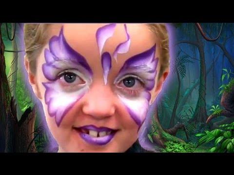 Iris Butterfly One Stroke Face Paint Tutorial Youtube