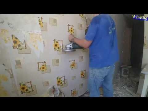 Демонтаж перегородки в хрущевке (ускоренно 20x) _ квартира студия из хрущевки