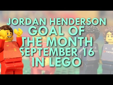 Jordan Henderson - Goal of the Month in Lego - September 16