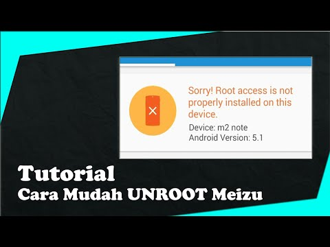 How to Unroot Meizu M2 Note - [Requested Video]