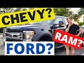 FORD, CHEVY, DODGE? BEST TRUCK TOWING A 5th WHEEL! RV LIVING FULL TIME