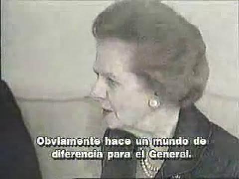 Margaret Thatcher Defiende Al General Pinochet