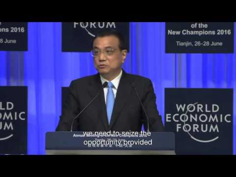 Premier Li Keqiang on the recovery of the global economy at AMNC16