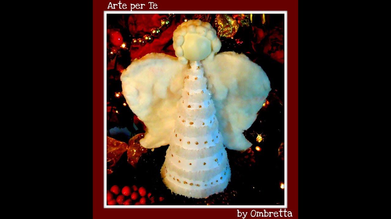 Costruiamo un l 39 angelo di natale fai da te arte per te for Angioletti di carta da appendere