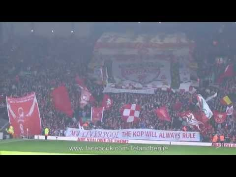 United Fans Singing at Anfield United Fans at Anfield