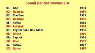 Sonali Bendre Movies List