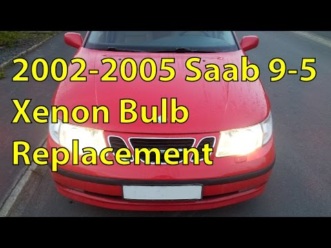 Saab 9-5 Xenon HID Bulb Replacement DIY - Trionic Seven
