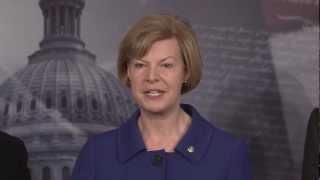 U.S. Senator Tammy Baldwin with Senate Democrats on Ryan Budget