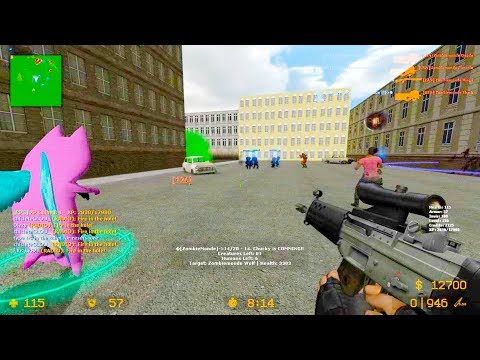Counter Strike Source - Zombie Riot Mod Online Gameplay on City Attack map