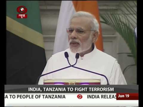 India, Tanzania agree on maritime security, terrorism, increasing trade
