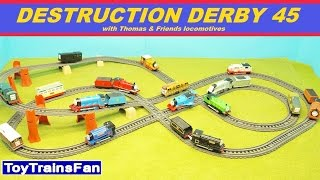 Trackmaster Destruction Derby #45  - Thomas & Friends accidents. Tomek i Przyjaciele zderzenia