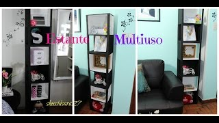 DIY estante multiusos en blanco y negro
