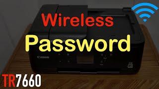 01. Canon Pixma TR7660 Wireless Password !!