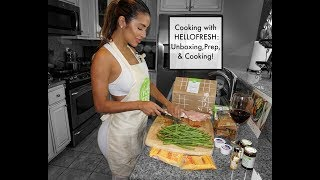 HelloFresh Review |  Unboxing, Prep, & Cooking!