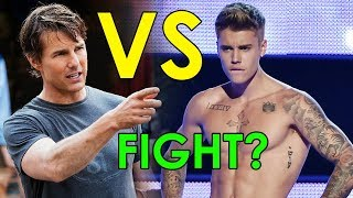 WHAT! Justin Bieber Challenges Tom Cruise To UFC Cage Fight!