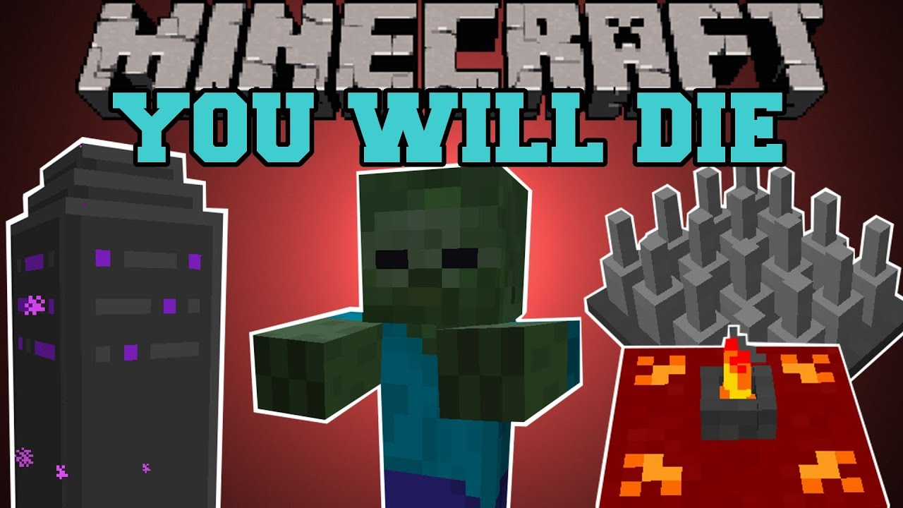Minecraft : YOU WILL DIE! (DUNGEONS, QUESTS, RPG, BUFFS ...