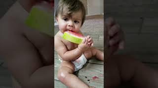 Cute Baby Eating Watermelon - Adorable Cuteness Overload