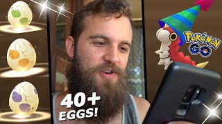 40+ EGGS HATCHED! (New Years 2020 Egg Event) - Party Hat-Hatches! (Pokemon Go)