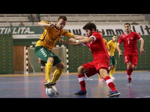 Lietuva 2:8 Gruzija: rungtynės (UEFA Futsal 2016 atranka; 2015-01-17)