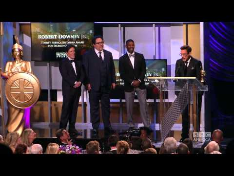 Robert Downey Jr. Accepts Britannia - 2014 Britannia Awards on BBC America