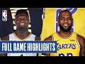 PELICANS at LAKERS | FULL GAME HIGHLIGHTS | February 25, 2020 thumbnail