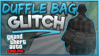 GTA 5 ONLINE *EASY* HOW TO GET *RARE* BLACK DUFFLE BAG GLITCH