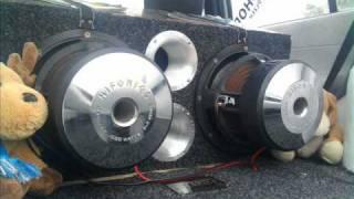 Hifonics car audio 3000watts rms 2 ohms