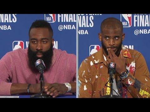 James Harden & Chris Paul Postgame Interview - Game 3 | Rockets vs Warriors | 2018 NBA West Finals