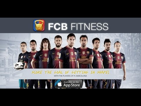 FCB Fitness for iPhone - Make that exercise be a game in your life with FC Barcelona!