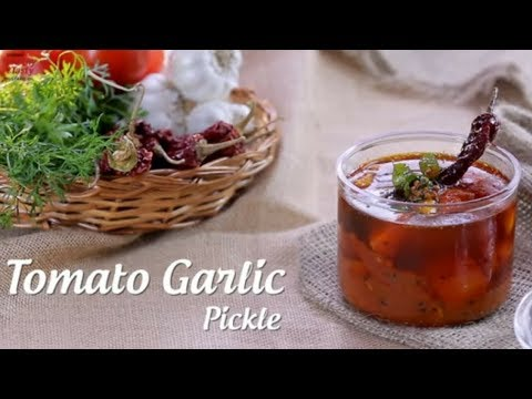 Instant Tomato Garlic Pickle | How To Make Tamatar Ka Achar | Tomato Pachadi | Pickles Of India