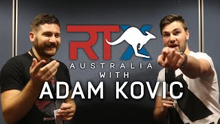 ADAM KOVIC INTERVIEW AT RTX AUSTRALIA!