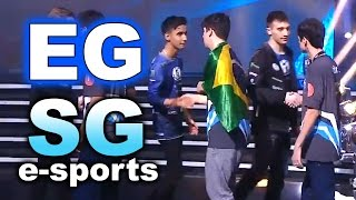 EG vs SG e-sports Brazil - KIEV MAJOR EPIC! LEGENDARY DOTA 2