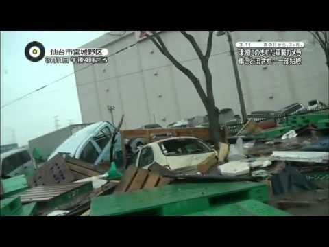 Japanese Tsunami Viewed From A Car