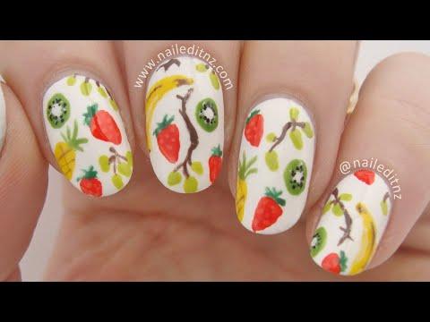 Fruit Salad Nail Art | Mini Bananas, Grapes, Strawberries, Pineapples & Kiwifruit!