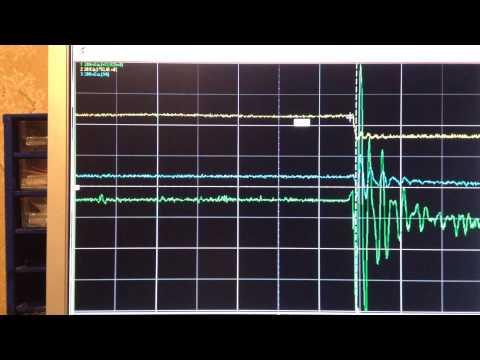 Исследование фонарика 30w. Магнитное поле ферита.