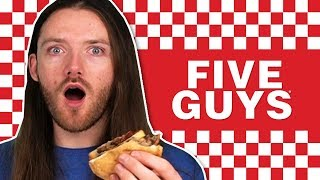 Irish People Try Five Guys