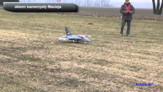 Yak 130 crash ready2fly test battery EDF Jet 90 PnP from Poland