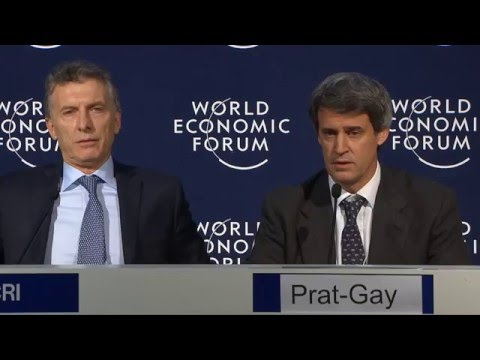 Davos 2016 - Press Conference with the President of Argentina