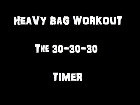 Heavy Bag Boxing Drills - The 30-30-30 TIMER Image 1