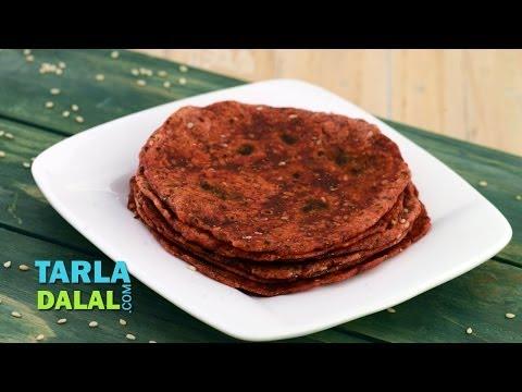 Beetroot and Sesame Roti (Healthy Breakfast) by Tarla Dalal