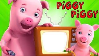 Porquinho Porquinho Sim Papai | Canções Para Crianças | Piggy Piggy Yes Papa | Farmees Português