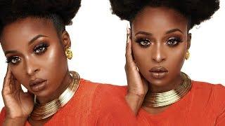 Perfect Fall makeup tutorial for black women/dark skin