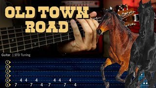 OLD TOWN ROAD - Lil Nas X  (feat. Billy Ray Cyrus) Guitar Tutorial TAB | Cover Guitarra Christianvib