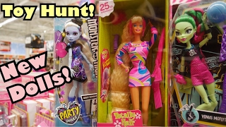 NEW DOLLS! Toy Hunting! Monster HIgh, Barbie, DC, & More!