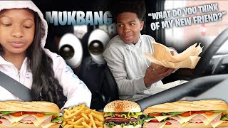 MY SISTER THOUGHTS ABOUT MY NEW FRIEND (the truth) *mukbang*