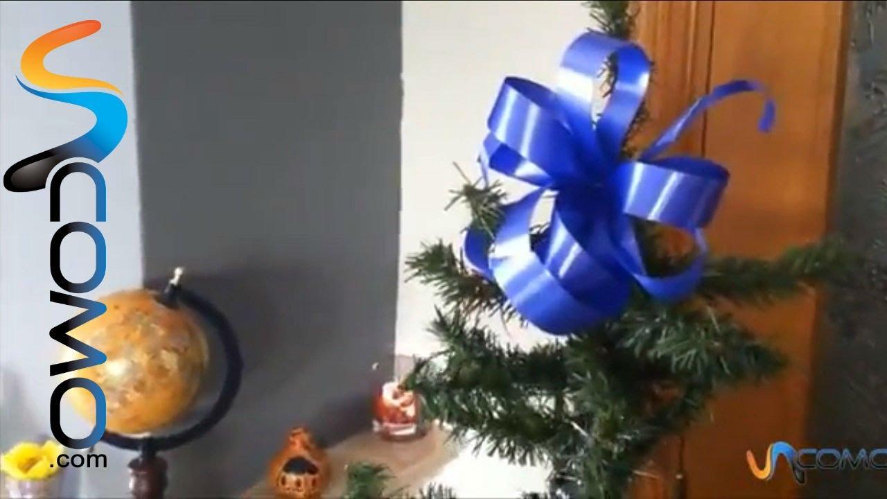 Lazos para decorar el rbol de navidad youtube - Lazos para el arbol de navidad ...