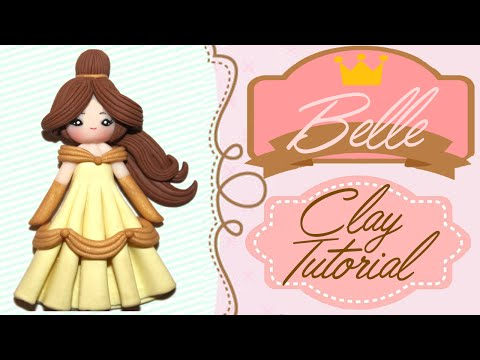 Belle Beauty and the Beast Chibi   Polymer Clay Tutorial