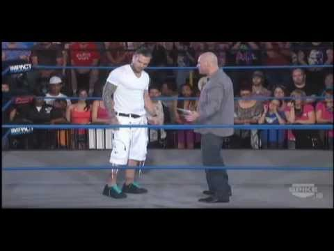 TNA IMPACT Wrestling 3/1/12 - Kurt Angle and Jeff Hardy Segment