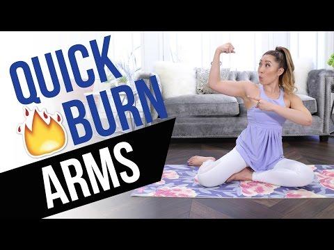 Quick Burn Arms! Incredible Arm Toning Workout - no equipment, no pushups!